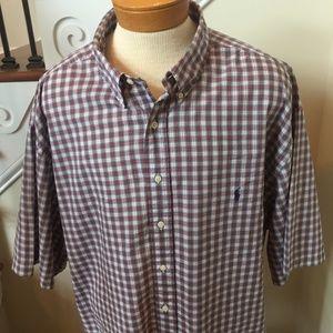 Ralph Lauren 4XL Tall Short Sleeve Shirt(LIKE NEW)